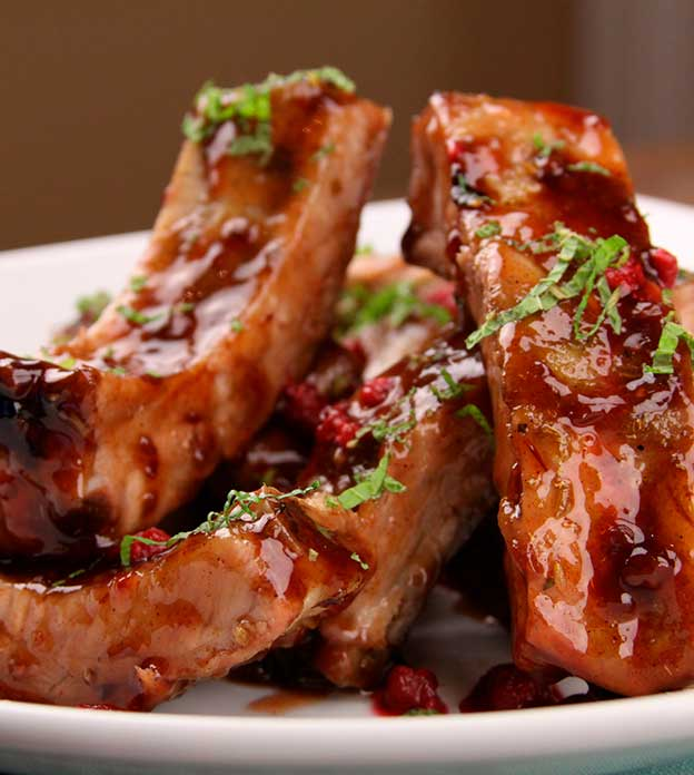 RASPBERRY CHIPOTLE BABY BACK RIBS